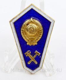 Oekraïens leger DNIPRO Technical University speld blauw met goud kleurig - 5 x 2,5 cm -  origineel