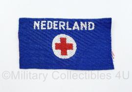 MVO Rode kruis embleem ongevouwen - Brabands weefsel - 10 x 5,5 cm - origineel