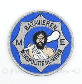 Rijkspolitie Nijmegen ME Mobiele Eenheid Batavieren embleem  - met klittenband  - 9 cm. diameter