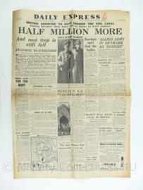 Daily Express krant - May 4, 1945 - origineel