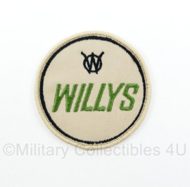 WO2 US Army Willys patch voor Willys MB, Willys M38 en Willys CJ- diameter 6 cm
