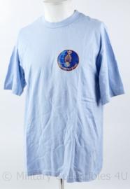 Kmar Marechaussee lichtblauw t-shirt Brigade Buitenland Missies - maat L - nieuw - origineel