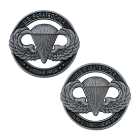 "US Paratrooper Coin ""Airborne Proud: remembrance coin"