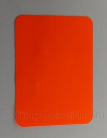 KL Nederlandse leger signaal kaart Visibility Card oranje - 14,5 x 10,5 cm - origineel