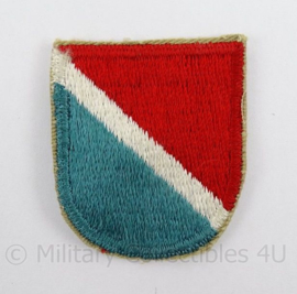 US Army Special Forces beret flash patch baret insigne 11th SFGA - afmeting 4,5 x 6 cm - origineel