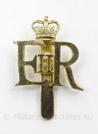 Britse Regiment pet insigne - WO2 model, maar net naoorlogs - afmeting 3 x 3 cm - origineel