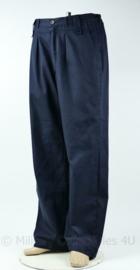 KMAR Marechaussee broek zonder beenzakken donkerblauw 1996 - maat 98 x 85 - origineel