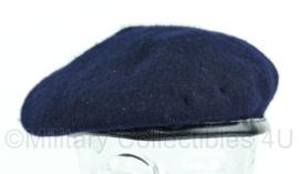 Britse leger blauwe baret Woolen one piece beret cap - Maat 55 - Origineel