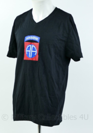 T shirt zwart - met opdruk US 82nd Airborne Division - maat Large, XL of XXL