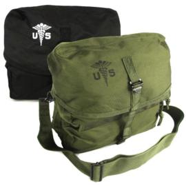 US Army Medical kit bag shoulder bag medische tas - 25 x 21 x 13,5 cm - GROEN of ZWART