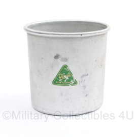 Wo2 Duitse veldfles beker Virgo Rein aluminium - 9 x 6 x 8,5 cm  - origineel