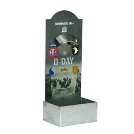Flesopener voor muurmontage - D Day Normandie 1944 101st, 82nd, 1st Inf.  4th inf. , Ranger