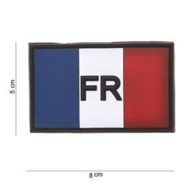 Uniform landsvlag Frankrijk Embleem 3D PVC - met klittenband - 8 x 5 cm