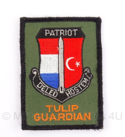 KLu missie embleem Turkije Patriot Tulip Guardian met klitteband - 8,5 x 6 cm - origineel