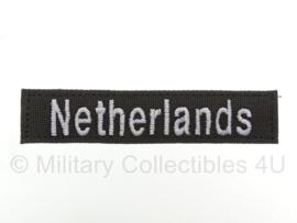 Naamlint 'Netherlands' met klittenband Groen - nieuw gemaakt