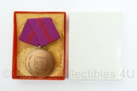 DDR medaille in doosje Zivil Verteidigung fur treue pflichterfullung - 8 x 5 cm - Origineel