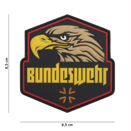 Embleem 3D PVC met klittenband - Bundeswehr Full Colour - 8,5 x 8,5 cm.