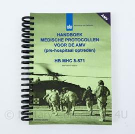 KL Handboek medische protocollen voor de AMV (pre hospitaal optreden) HB MHC 6-571- 17x14x1cm - origineel