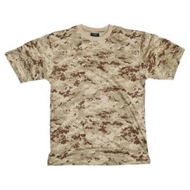 Digital desert camo T shirt korte mouw- nieuw gemaakt