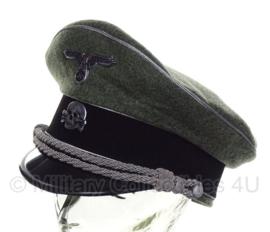 Waffen SS officieren algemeen Zilveren bies - schirmmütze wol - semi crusher - 58, 59 of 60 cm.