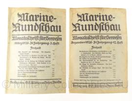 Boek Marine Rundschau - 1926 - set van 2 boeken - origineel