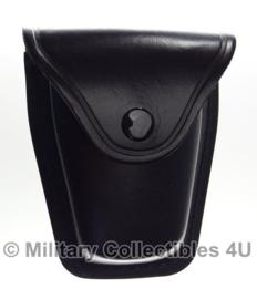 Handboeien tas zwart runderleder ONGEBRUIKT - origineel politie