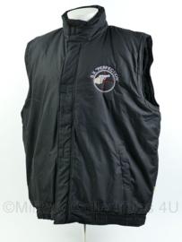 Schietvereniging Perfection bodywarmer - zwart - maat XL - gebruikt - origineel