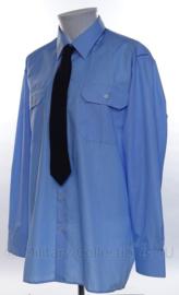 Belgische Luchtmacht overhemd met stropdas - lange mouw - maat 44 cm. halsomtrek = Large  - origineel
