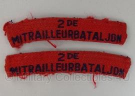 Straatnaam set Nederlandse leger - 2e mitrailleurbataljon - origineel