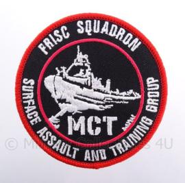 "KM Koninklijke Marine, Korps Mariniers Frisc Sqaudron MCT embleem ""surface assault and training group"" - met klittenband -diameter 9 cm"
