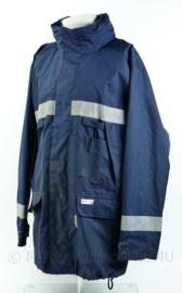KM Koninklijke Marine Sioen parka - doorwerkjas met voering - donkerblauw - maat Large - gedragen - rits stroef - origineel
