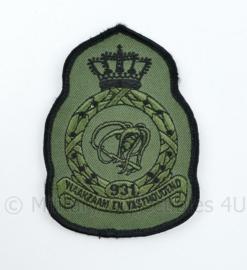 KLU Luchtmacht RNLAF 931 Squadron embleem - waakzaam en vasthoudend - 11,5 x 8 cm - origineel