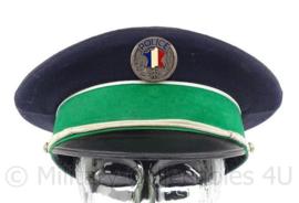 Franse Politie pet met speciale groene rand - maat 56 - maker: Bidermann - origineel