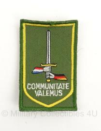 GE/NL Corps Duitse-Nederlands Korps 1 German/Netherlands Corps Communitate Valemus GVT embleem - met klittenband - origineel