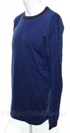 Politie T shirt donkerblauw lange mouw - maat Large - origineel