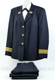 KM Koninklijke Marine Daagsblauw DAMES uniform set jas, broek en rok Geestelijke - met insignes - maat 46 - ongedragen - origineel