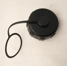 Britse leger veldfles dop ZWART met gasmaskerslang aansluiting  - origineel