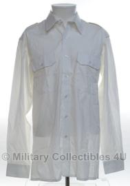 KL Nederlands leger en Korps Mariniers Barathea GLT overhemd WIT - met zichtbare knopen en borstzakken - maat 42-6 - origineel