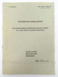KL Landmacht Technische Handleiding TH8904 - GPS ontvanger PLGR96- afmeting 30 x 21 cm - origineel