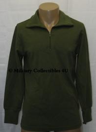 Nederlands leger Groen Hemd rolkraag Koudweer - maat 8595/9505 of 8090/0515 - Noorse trui model - nieuw in verpakking -  origineel