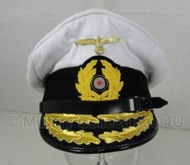 kriegsmarine schirmmutze U boot - wit - maat 57 tm. 60 cm. - admiraal