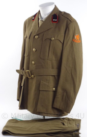 """KL Koninklijke Landmacht DT uniform jas met broek - 1e Luitenant """"veldartillerie"""" - jaren 50 - maat  L - origineel"""