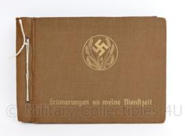 WO2 Duitse RAD Reicharbeitsdienst leeg fotoalbum Erinnerungen an Meine Dienstzeit - 26,5 x 19  cm - origineel