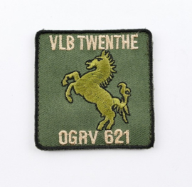 Klu luchtmacht VLB Twenthe OGRV 621 621 Object Grondverdedeging borstembleem 621 squadron  - met klittenband - 5 x 5 cm - origineel