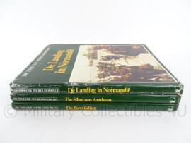 Naslagwerk over WO2, set van 3 boeken - Landing Normandie, Slag om Arnhem en De Bevrijding - origineel
