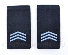 KLU Luchtmacht vorig model schouder epauletten - rang Sergeant - origineel