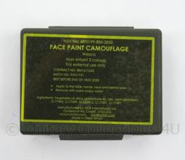 Camo Face paint merk Wesco 3 kleuren met spiegel -  schmink - Origineel Britse leger en korps mariniers