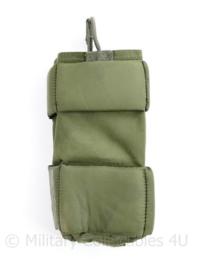 Defensie en Korps Mariniers klittenband padded pouch groen - voor radio - 17 x 8 x 4,5 cm - origineel