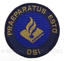 DSI Politie embleem - Praeparatus Esto - met klittenband -  9 x 9 cm