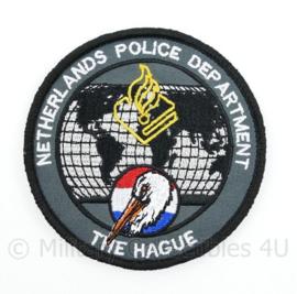 Netherlands Police Department The Haque embleem - met klittenband  - 9 cm. diameter